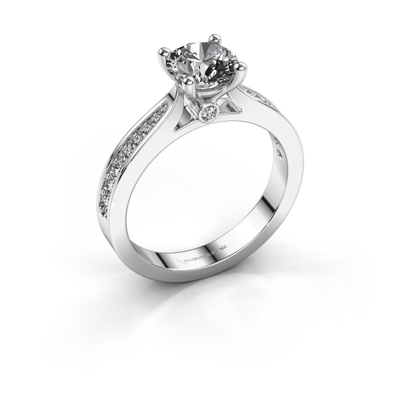 Verlovingsring Evelien 925 zilver diamant 1.257 crt