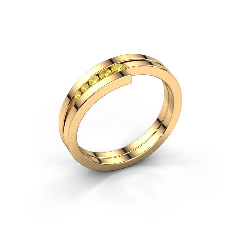 Ring Cato 585 Gold Gelb Saphir 2.2 mm