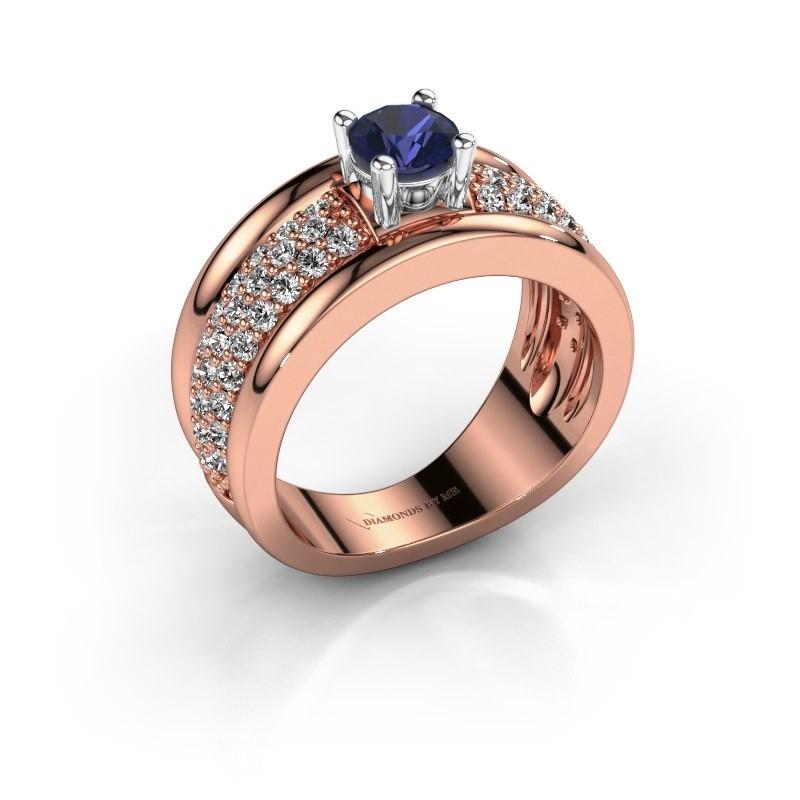 Ring Alicia 585 Roségold Saphir 5 mm