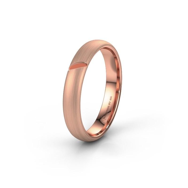 Trouwring WH0176M34AP 375 rosé goud ±4x1.7 mm