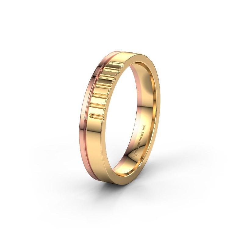 Wedding ring WH0332M14X 585 gold ±4x1.5 mm