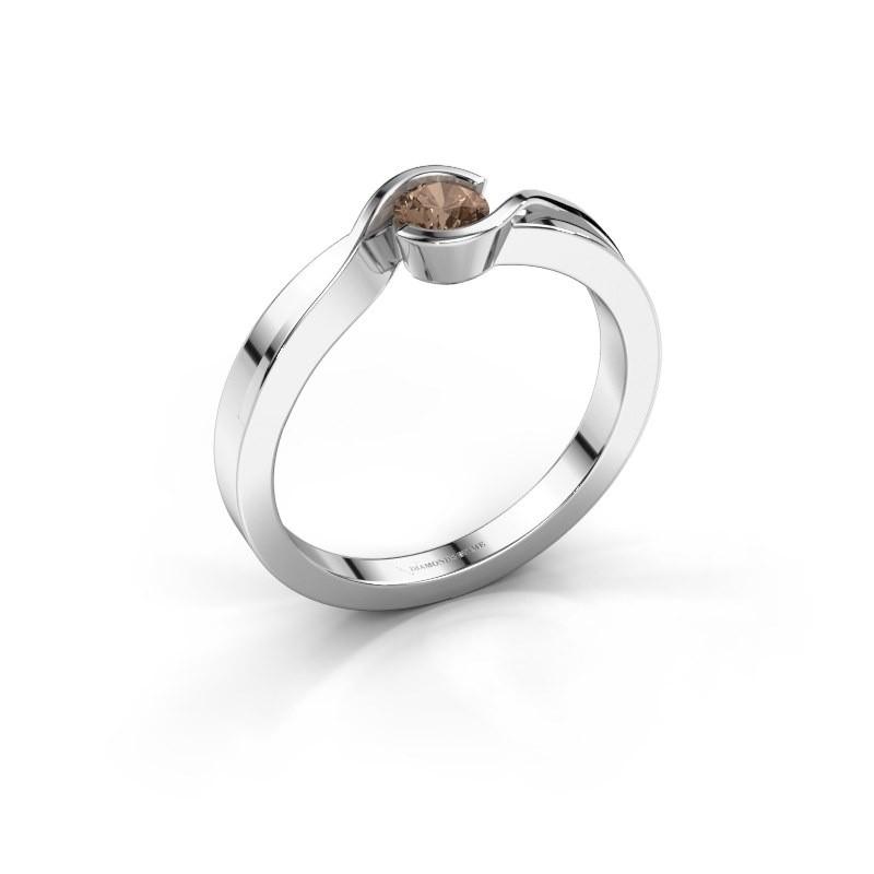 Bague Lola 585 or blanc diamant brun 0.25 crt