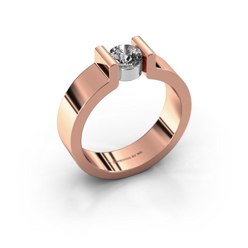Verlovingsring Isabel 1 585 rosé goud diamant 0.50 crt