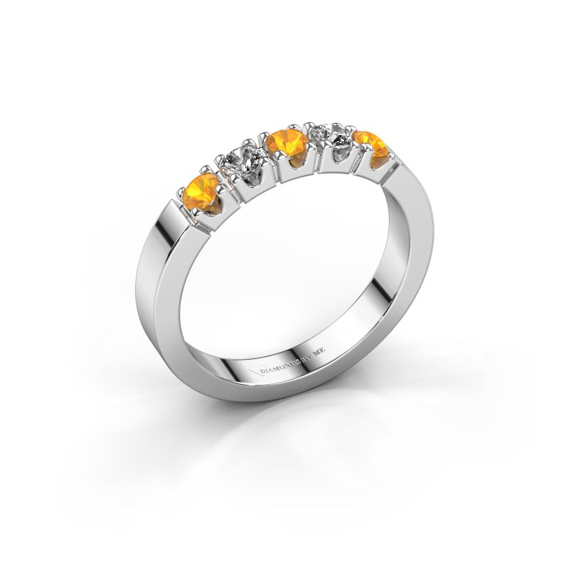 Verlovingsring Dana 5 925 zilver citrien 3 mm