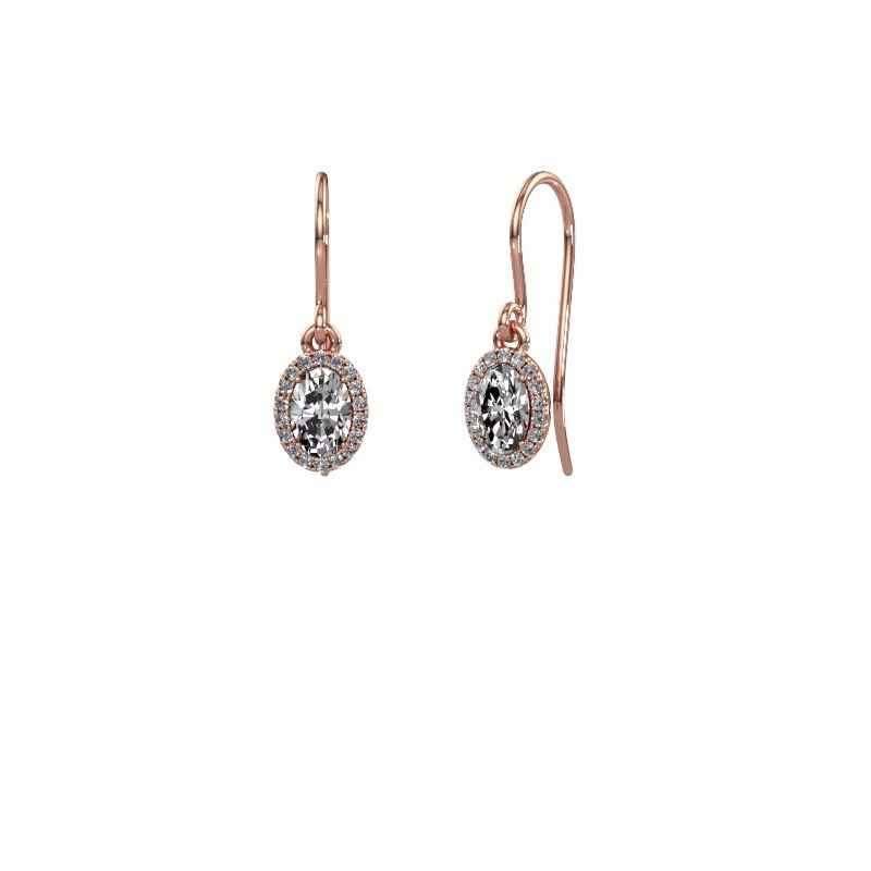 Ohrhänger Seline ovl 375 Roségold Diamant 1.16 crt