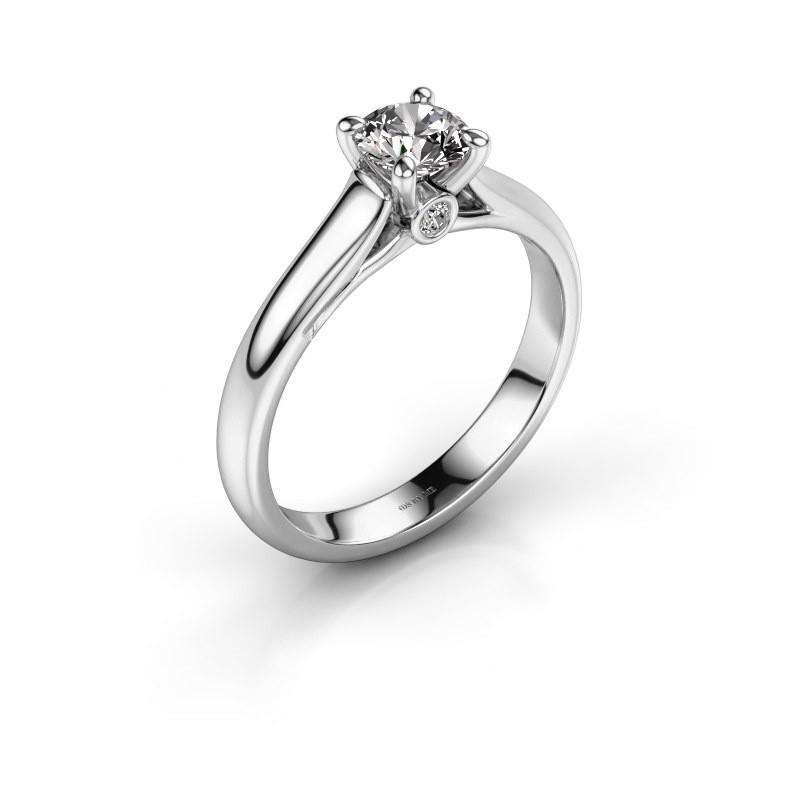 Engagement ring Valorie 1 585 white gold diamond 0.50 crt