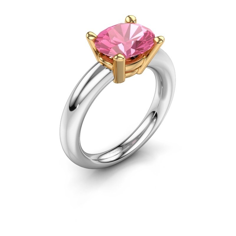 Ring Janiece 585 white gold pink sapphire 10x8 mm