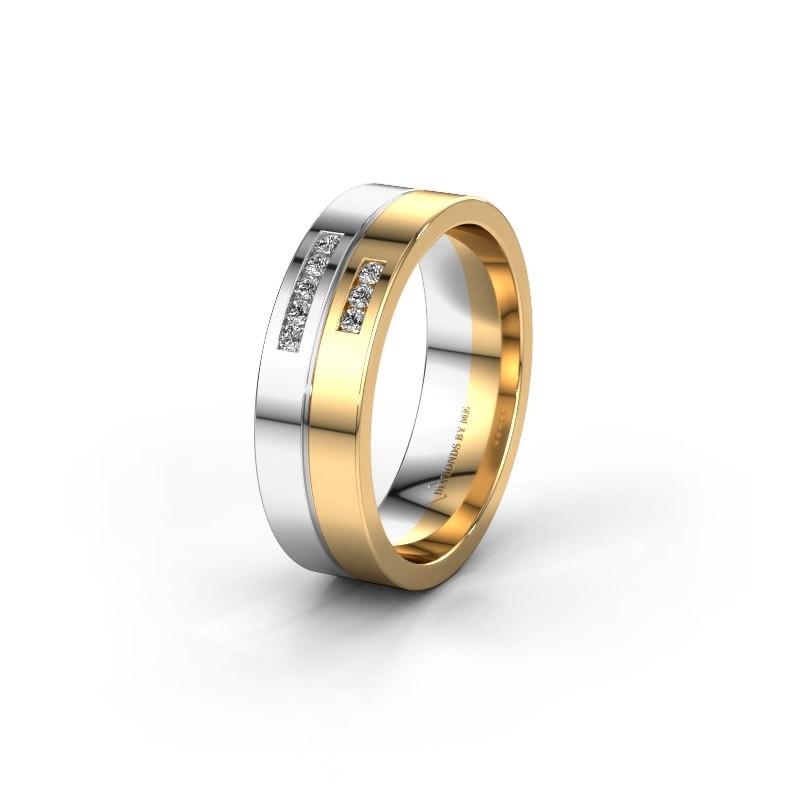 Wedding ring WH0207L16AP 585 white gold diamond ±0.24x0.07 in