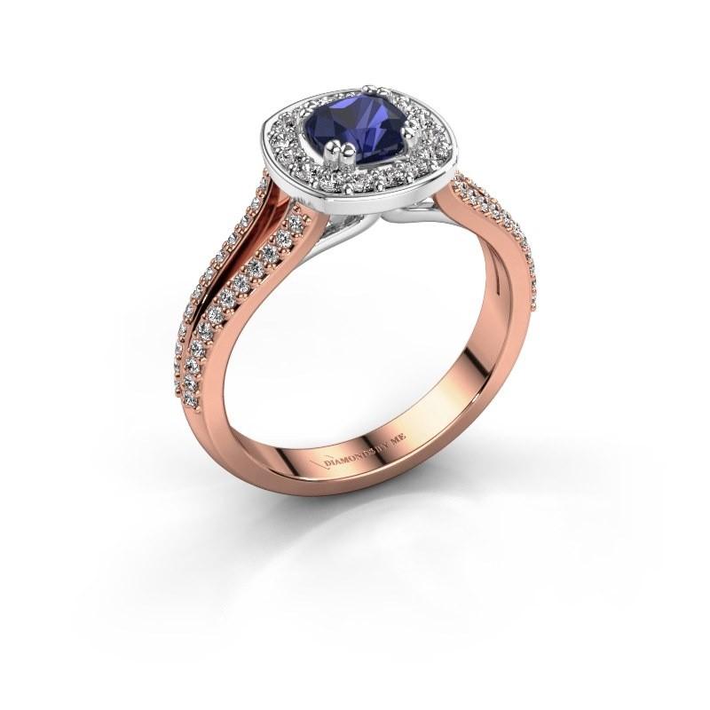 Engagement ring Carolina 2 585 rose gold sapphire 5 mm
