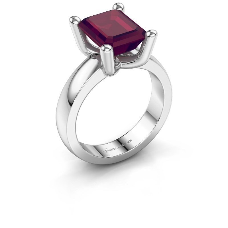 Ring Clelia EME 950 platinum rhodolite 10x8 mm