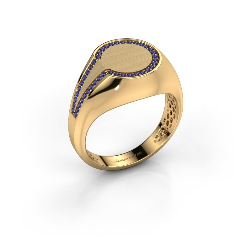 Men's ring Gijs 585 gold sapphire 1 mm