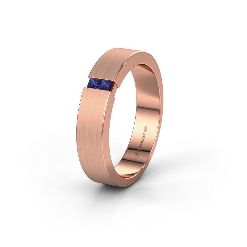 Trouwring WH2136M15E 375 rosé goud saffier ±5x2.4 mm