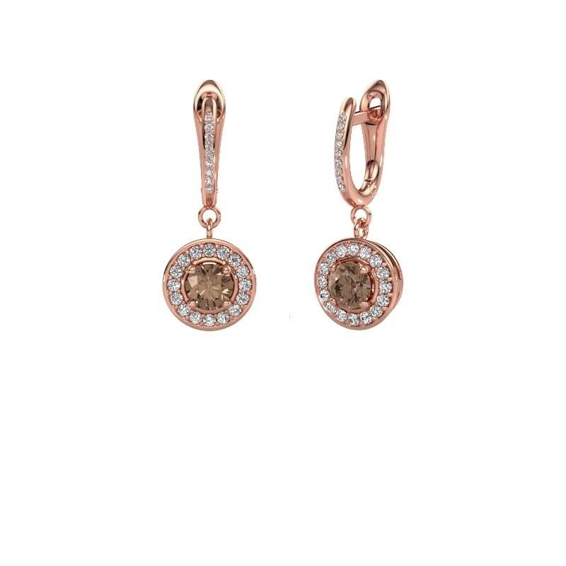 Pendants d'oreilles Ninette 2 585 or rose diamant brun 1.429 crt