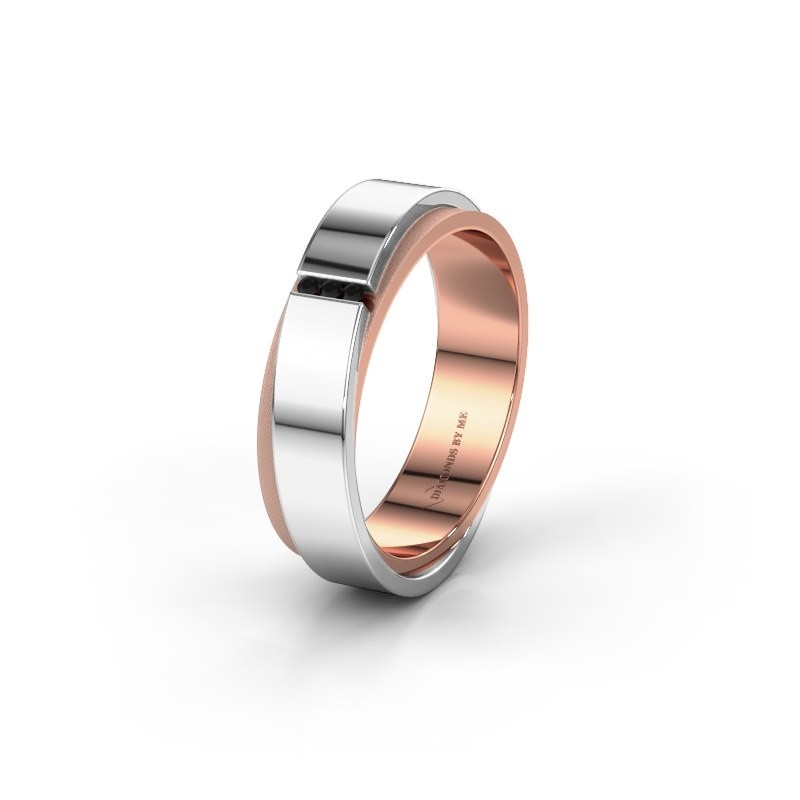 Wedding ring WH6012LX6A 585 rose gold black diamond ±6x1.7 mm