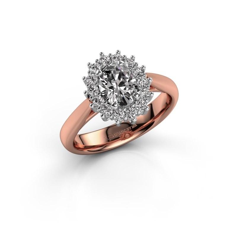 Verlobungsring Margien 1 585 Roségold Lab-grown Diamant 0.80 crt