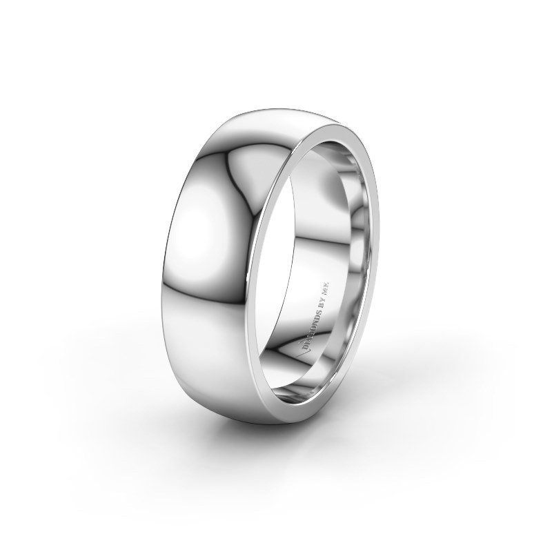 Wedding ring WH6120M27C 925 silver ±7x2.2 mm