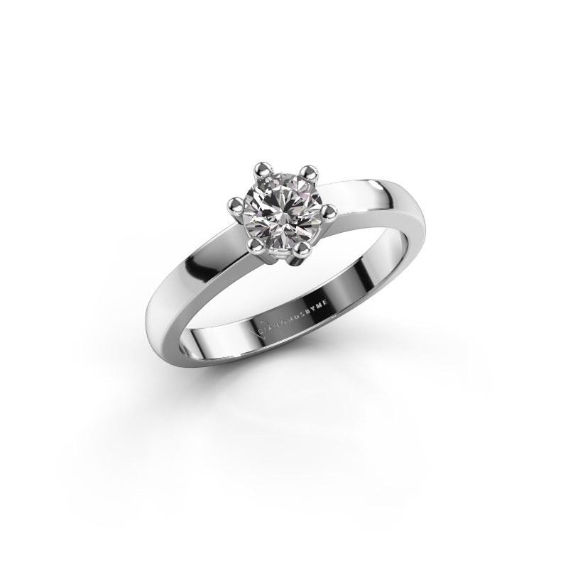 Engagement ring Luna 1 585 white gold diamond 0.30 crt