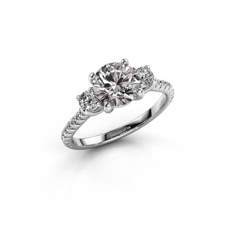 Verlovingsring Jesica 950 platina lab-grown diamant 1.68 crt