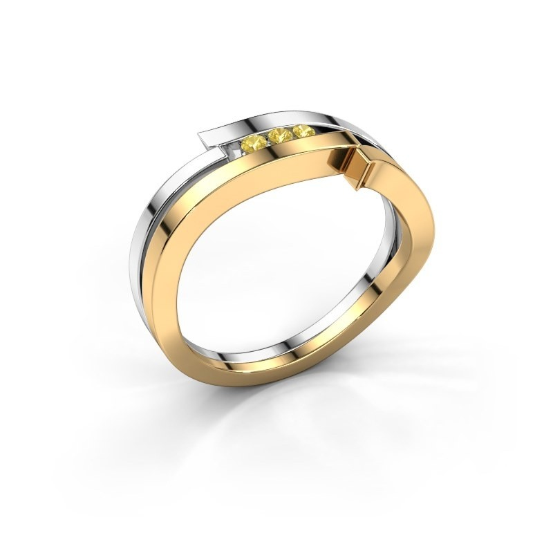 Ring Amelie 585 gold yellow sapphire 1.7 mm