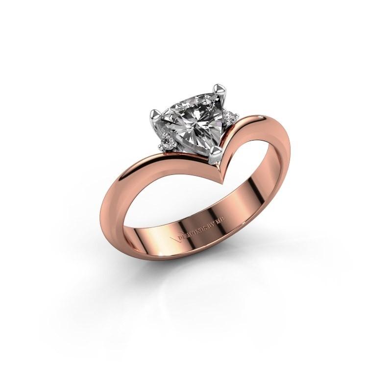 Ring Arlette 585 rosé goud zirkonia 7 mm