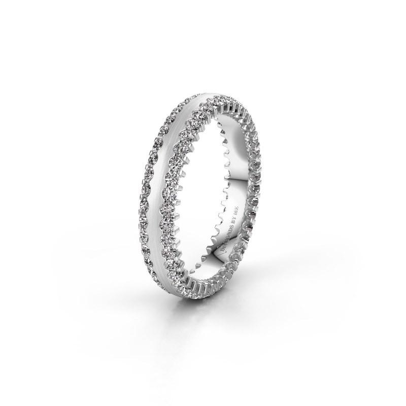 Wedding ring WH2139L24B 585 white gold zirconia ±4x2 mm