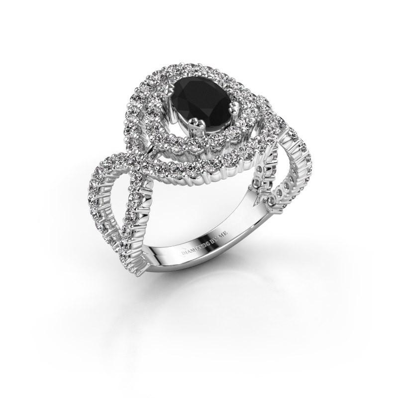 Ring Chau 950 platina zwarte diamant 2.13 crt