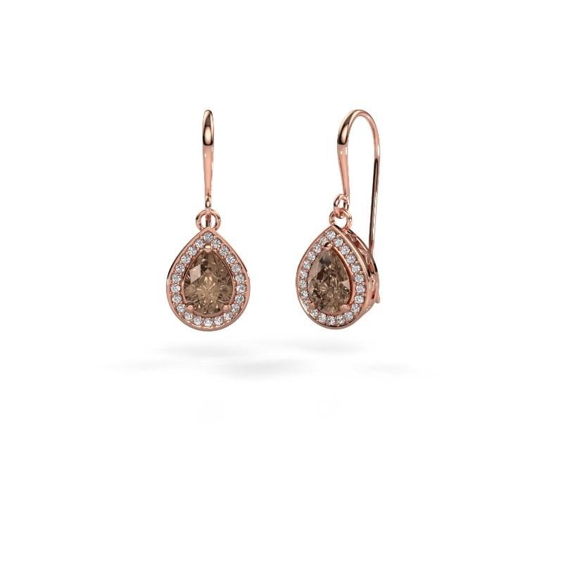 Drop earrings Beverlee 1 375 rose gold brown diamond 1.41 crt