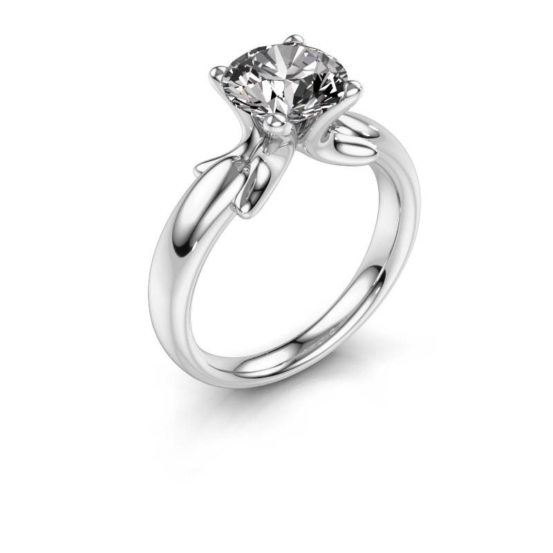 Ring Jodie 925 Silber Zirkonia 8 mm