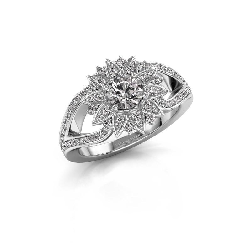 Aanzoeksring Chasidy 2 950 platina lab-grown diamant 0.50 crt