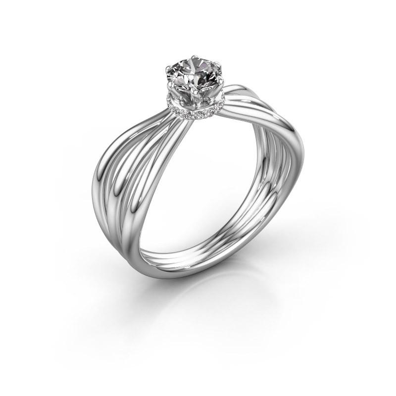 Verlovingsring Kimi 585 witgoud diamant 0.50 crt