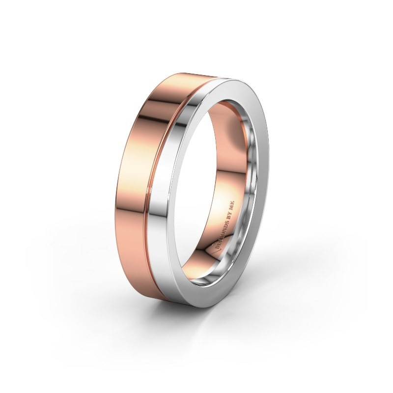 Wedding ring WH1002M15D 585 rose gold ±4x2.3 mm