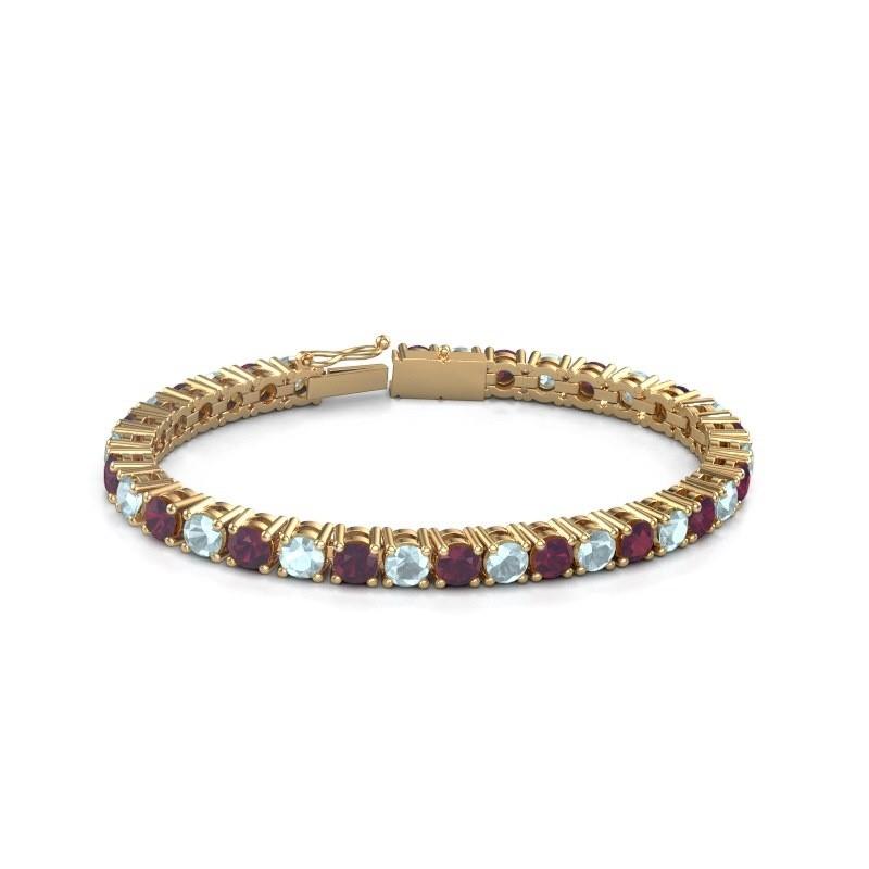 Tennisarmband Ming 375 goud rhodoliet 5 mm