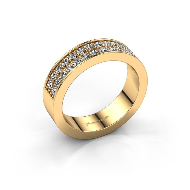 Aanschuifring Catharina 6 375 goud diamant 0.56 crt