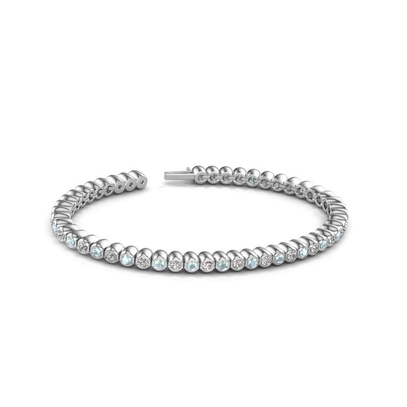Tennisarmband Patrica 585 witgoud lab-grown diamant 2.75 crt