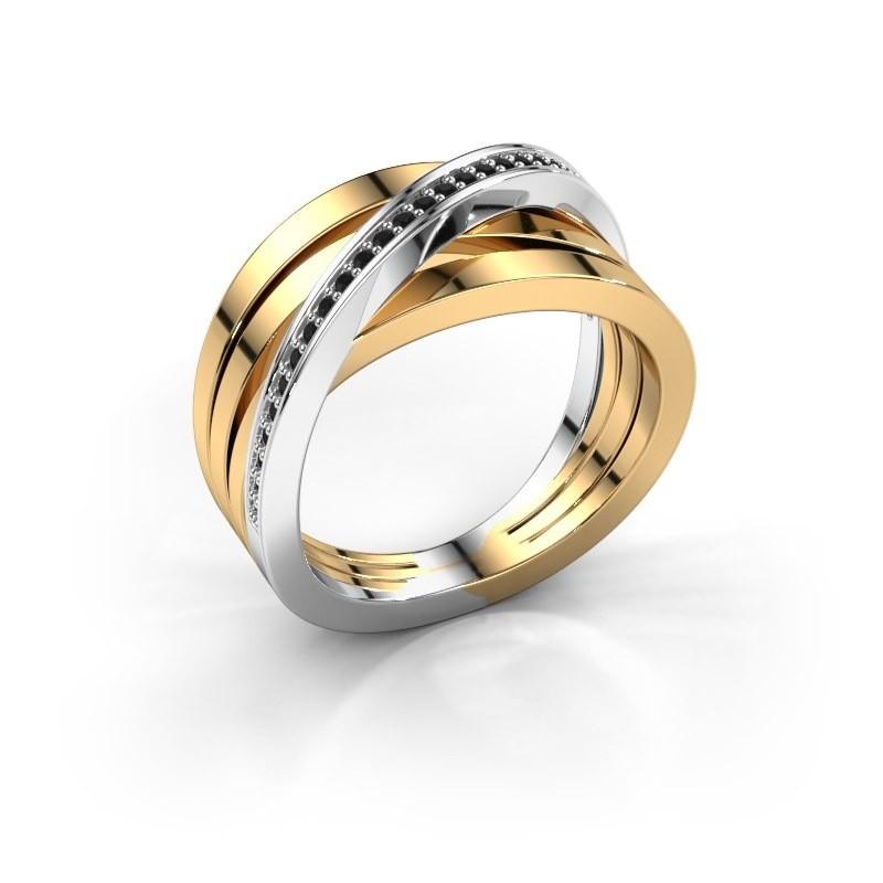 Ring Esmee 585 goud zwarte diamant 0.174 crt