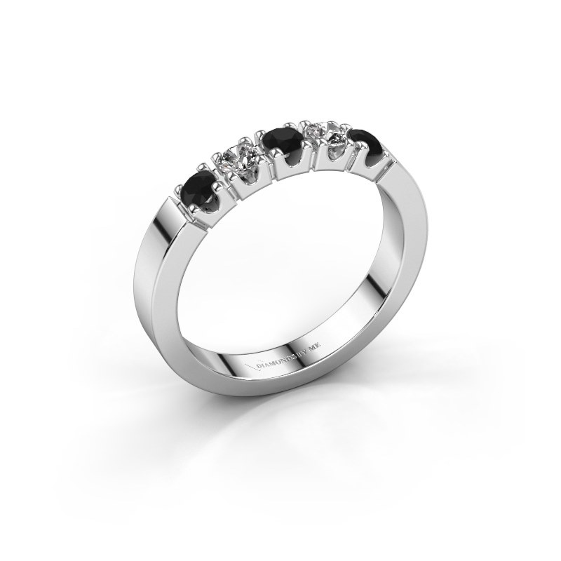 Verlovingsring Dana 5 925 zilver zwarte diamant 0.56 crt