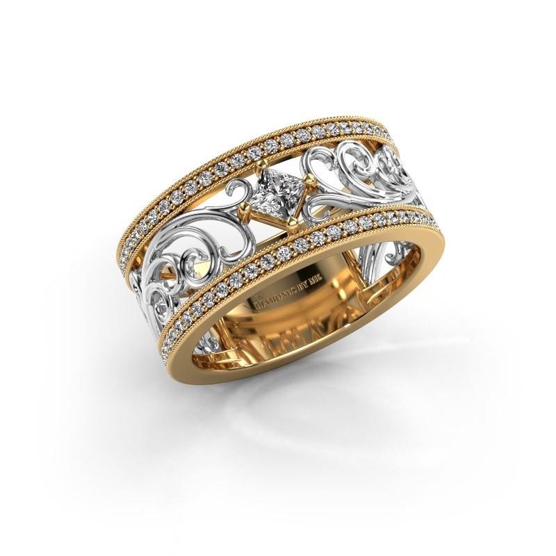 Ring Danae 585 gold diamond 0.58 crt