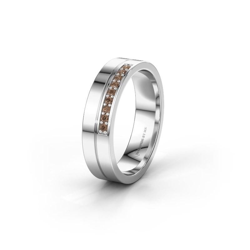 Wedding ring WH0213L15AP 925 silver brown diamond ±0.20x0.07 in