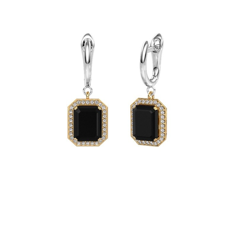 Oorhangers Dodie 1 585 goud zwarte diamant 3.00 crt