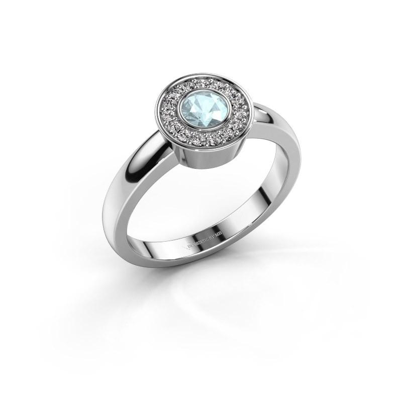 Ring Adriana 1 925 zilver aquamarijn 4 mm