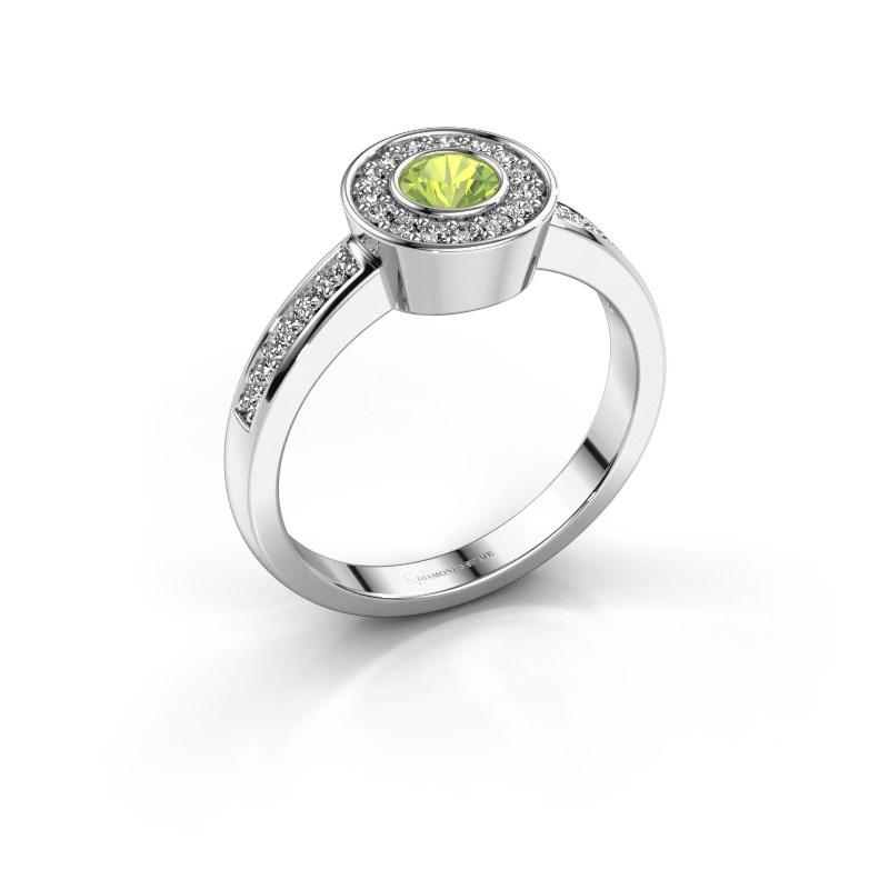 Ring Adriana 2 950 platinum peridot 4 mm