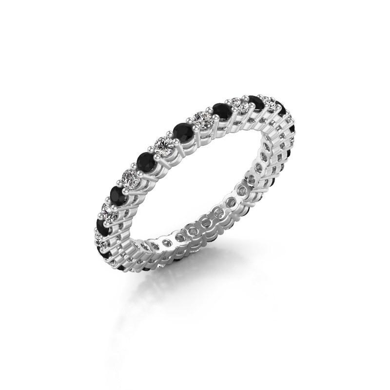 Aanschuifring Rufina 3 925 zilver zwarte diamant 0.986 crt