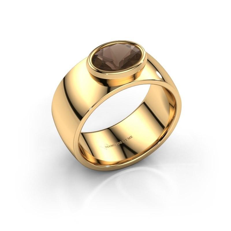 Ring Wilma 1 585 goud rookkwarts 8x6 mm