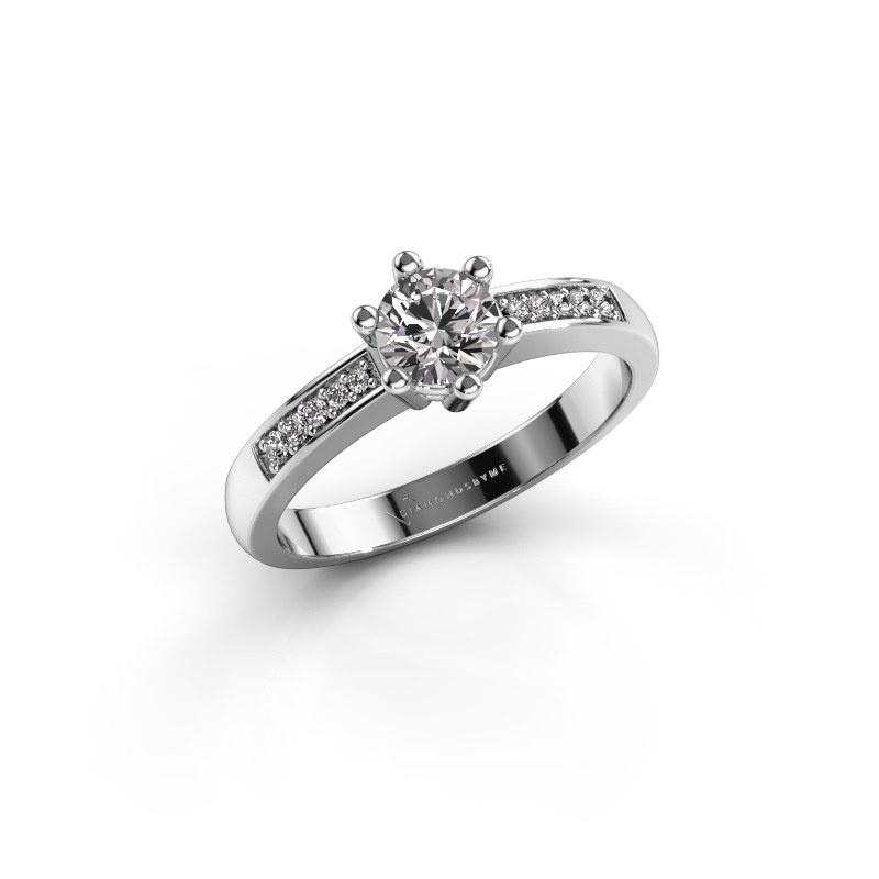 Verlovingsring Luna 2 925 zilver diamant 0.50 crt