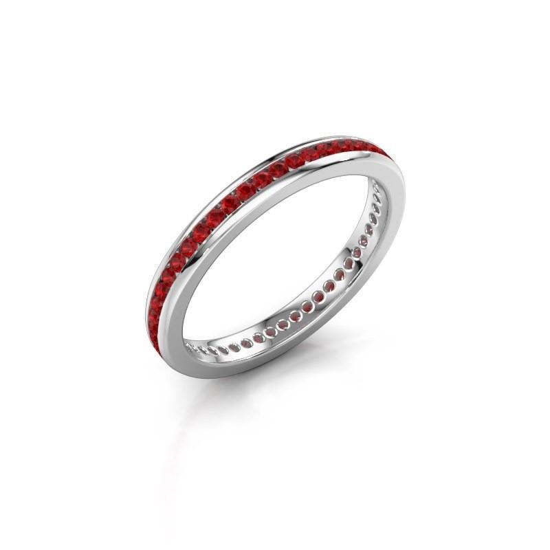 Aanschuifring Lura 1 925 zilver robijn 1.3 mm