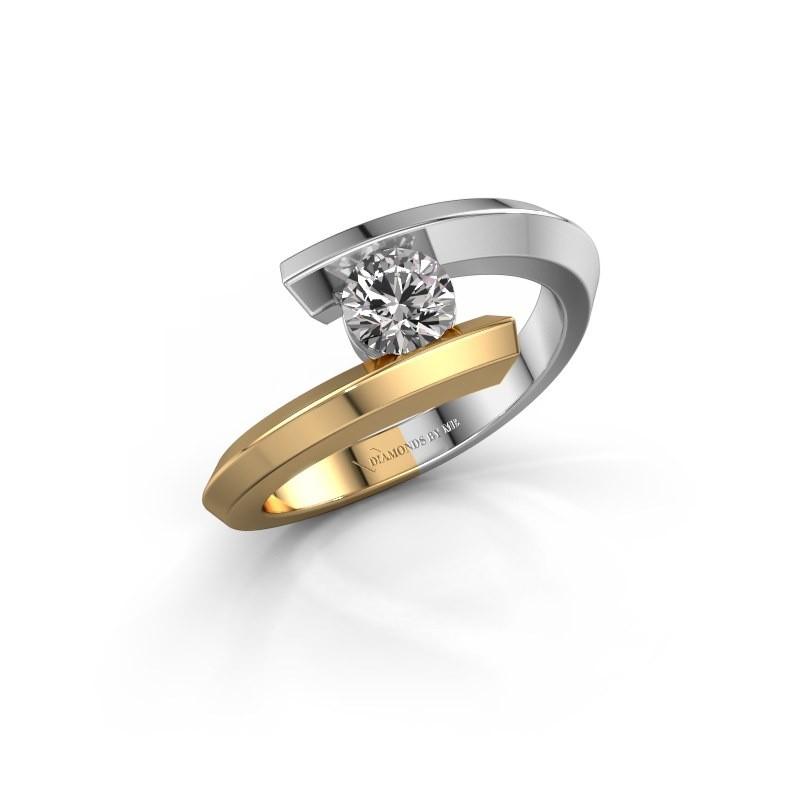 Ring Paulette 585 white gold diamond 0.40 crt
