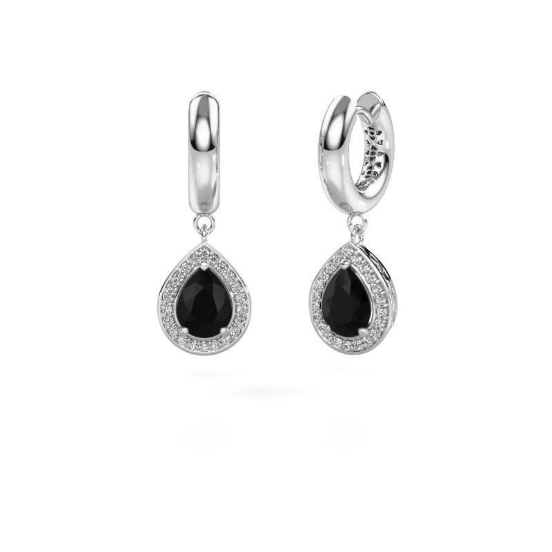 Oorhangers Barbar 1 585 witgoud zwarte diamant 2.445 crt