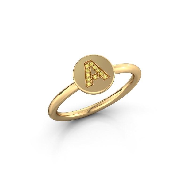 Bague Initial ring 050 585 or jaune