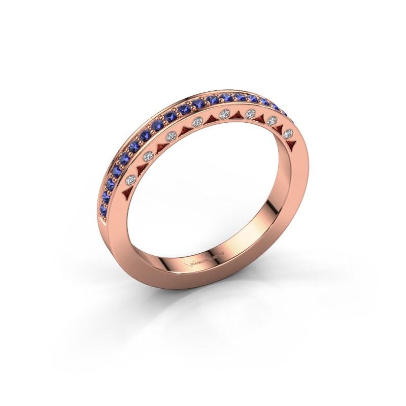 Ring Yasmine 585 rose gold sapphire 1.2 mm