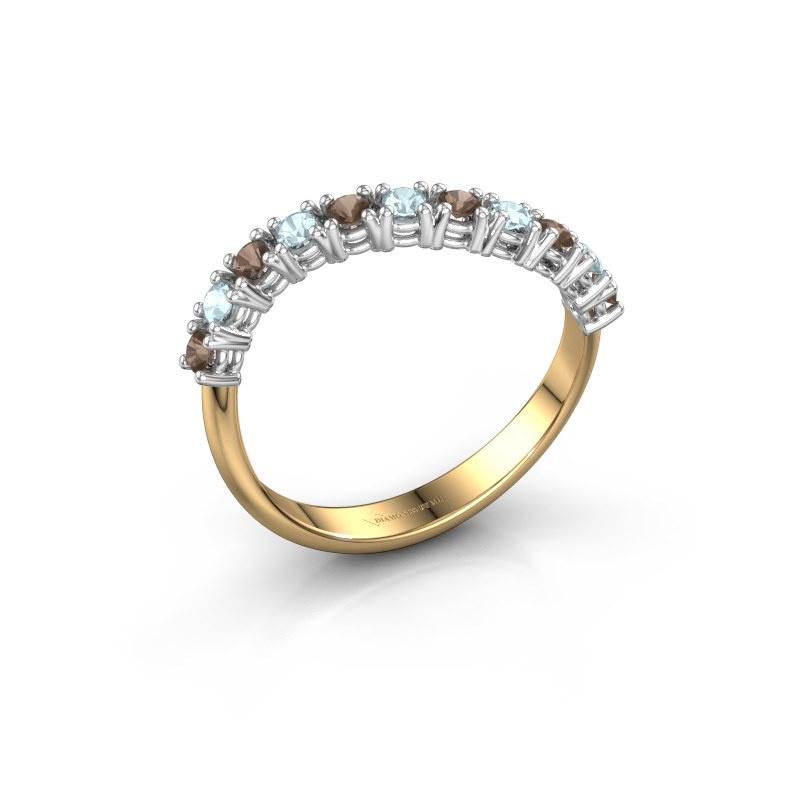 Ring Eliza 585 goud rookkwarts 2 mm